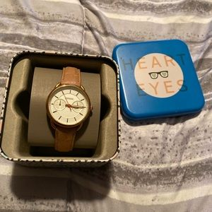 Fossil watch with nude strap